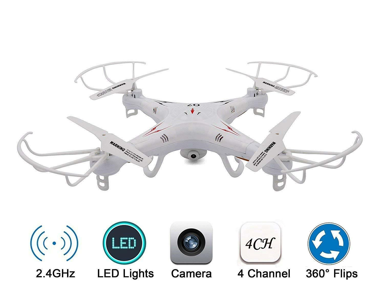 KELIWOW 2.4GHz 4CH 6-Axis Gyro RC Quadcopter Drone Explorers with Camera RTF Q7
