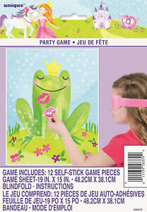PRINCESS-PARTY-SUPPLIES-STICK-THE-LIPS-ON-THE-FROG-GAME-FOR-UP-TO-12-PLAYERS