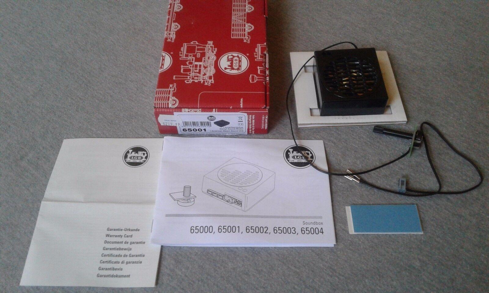LGB unidad de sonido de vapor americano  65001  TS