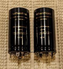 PAIR 1400-1400-1000 MFD 50V Twist Lock Capacitors Authenticap KTL-50 Marantz  7