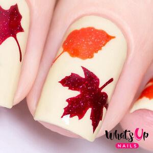 Fall Stencils for Nails, Autumn Fall Nail Stickers, Nail Art, Nail ...