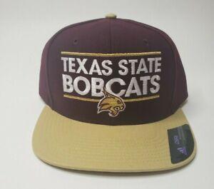 NEW-Texas-State-Bobcats-Official-NCAA-Adidas-Adult-Snapback-Cap-Hat-OSFA