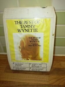 8-Track-Cartridge-The-Best-Of-Tammy-Wynette-Vintage-Rare-Authentic