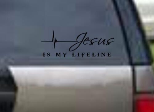 JESUS is my LIFELINE Beautiful Wall Art vinyl Decal Car Window Christ God Bible
