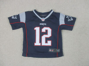 Details about Nike Tom Brady New England Patriots Jersey Toddler 2T Blue White Kids Boys