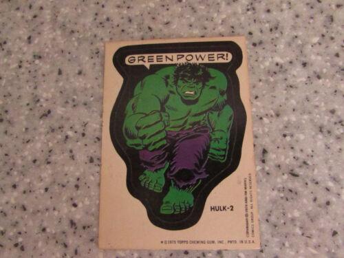 ORIGINAL 1975 TOPPS CHEWING GUM STICKER CARDS MARVEL