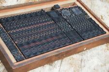 Box With Letterpress Border Wood Printing Blocks Ornaments Art Nouveau Deco Rare