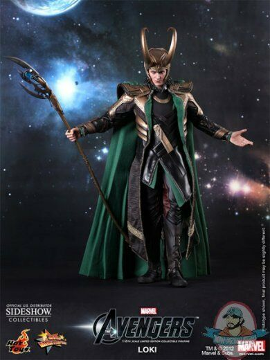 Marvel 1/6 Scale Loki from Avengers 12 inch figure by Hot Toys Thor