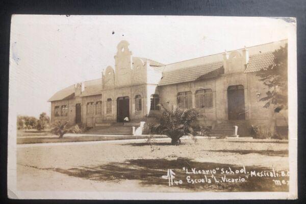1930 S Mexicali Mexique Rppc Postcard Cover Pour New York Usa Vicario School Distinctive Pour Ses PropriéTéS Traditionnelles