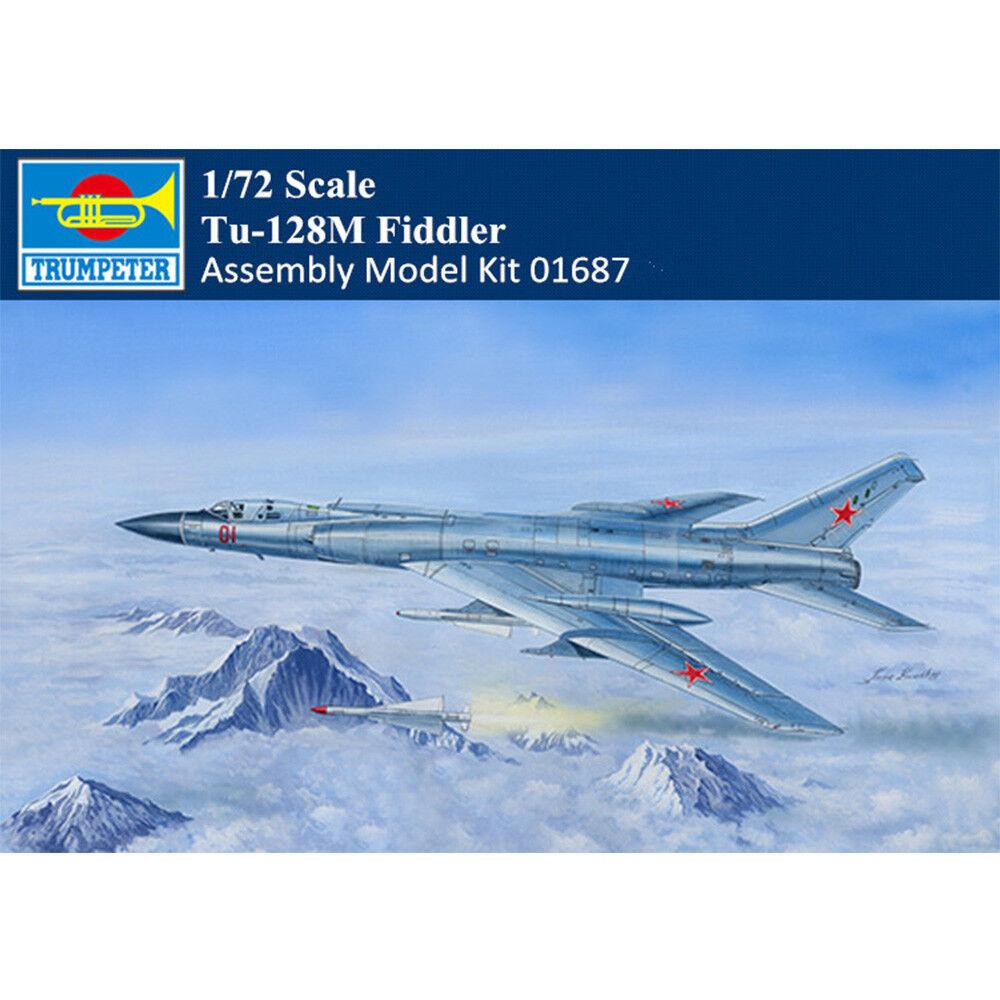 Trumpeter 01687 Russian Tu-128M Fiddler Fighter Intercepter Airplane Kit 1 72