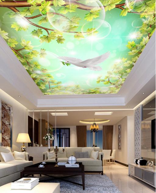 3D Pigeon Bubble 84 Ceiling WallPaper Murals Wall Print Decal Deco AJ WALLPAPER