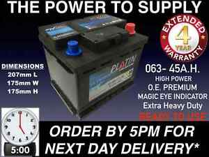 Image Is Loading HONDA CIVIC 063 CAR BATTERY 45AH 390CCA 12V