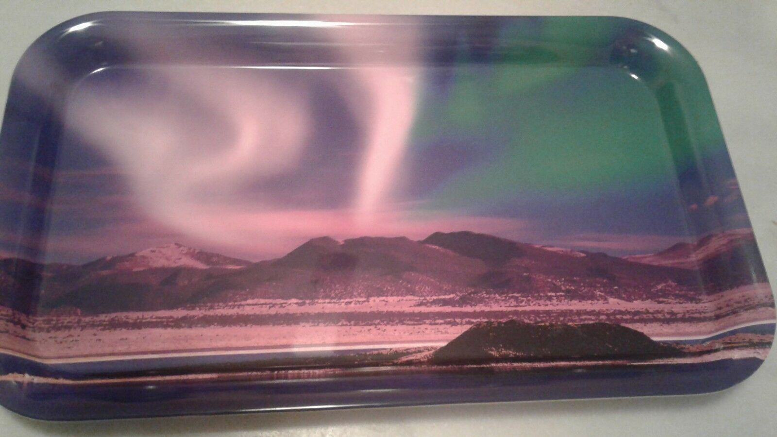 Norway Northern Lights Tray, NEW