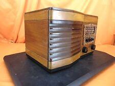 "Vintage 1940 WESTERN Auto 914 ""Truetone"" Pushbutton Wood Cabinet TUBE RADIO ~WOW"