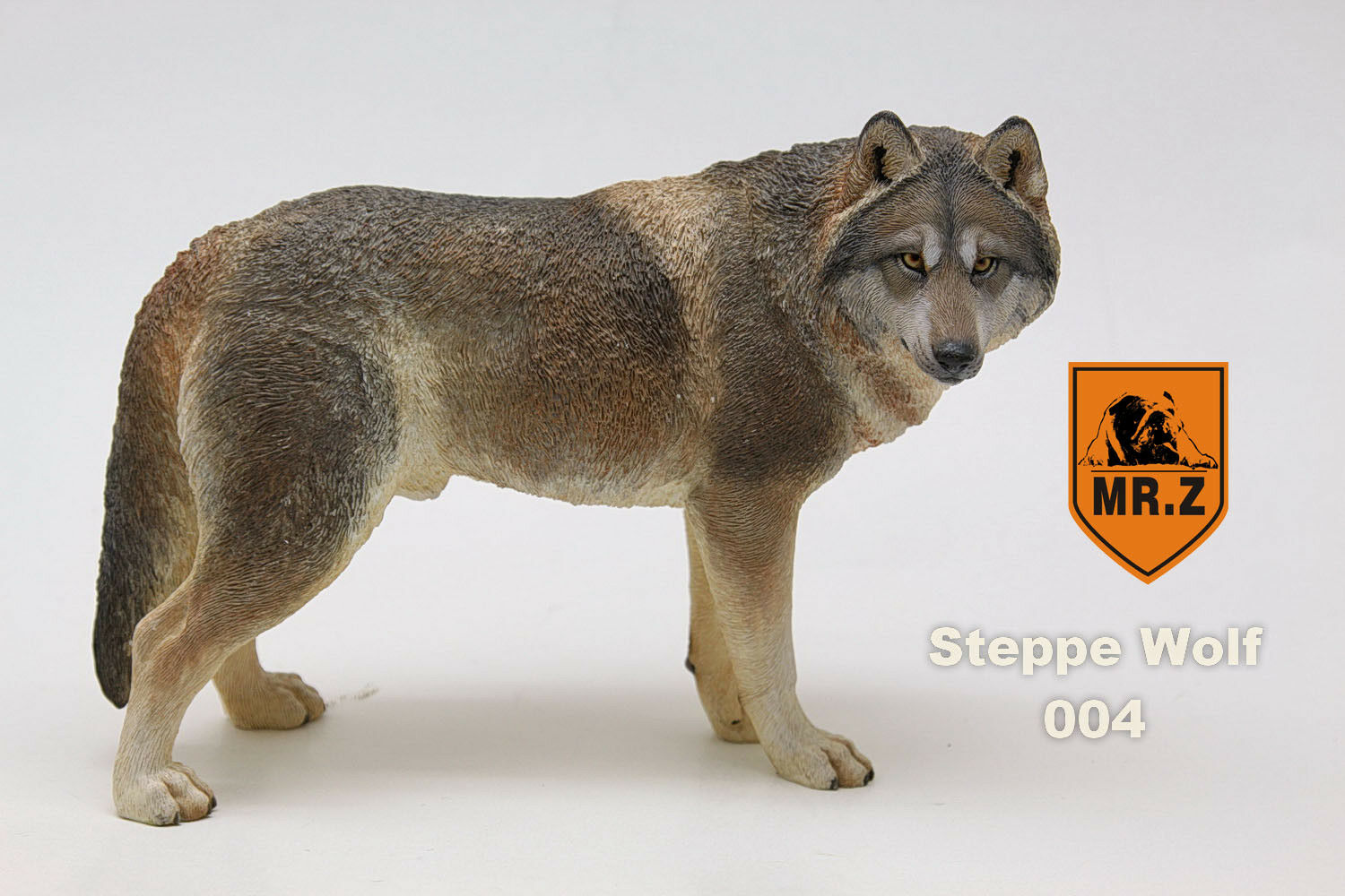 1 6 Mr.Z NO.7 Steppe Wolf 004 Animal Toy Siberian Wolf Model