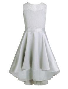 f4fb3424d7a3 Vestiti NUOVO Pizzo Fiore Damigella D onore principessa abito da sposa  Ragazze Partito Tulle Abiti per ...