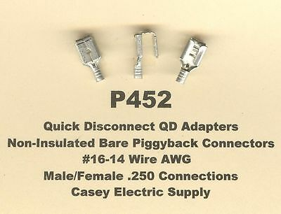 14-16 GAUGE 100 PK UNINSULATED MALE QUICK DISCONNECT.250 TERMINAL CONNECTOR AWG