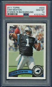2011-Topps-200-Cam-Newton-Rookie-RC-Stands-Panthers-Patriots-PSA-10-GEM-MT