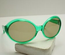 Vintage 1960's-70s Original Oval Bug Eye Sunglasses Made in Italy Retro Mod Hip
