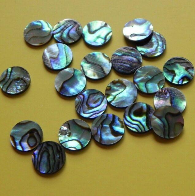 1 inlay set of 12pcs inlay material Green abalone dots 7 mm x 1.55 mm