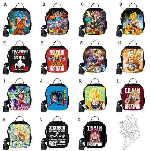 Dragon Ball Z Super Saiyan Goku Big Backpack Lunch Bag Pen Case Shoulder Bag Lot