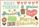 Kate Sutton Many Thanks Parcel Thank You Notes Book | Galison 0735328447 Lbs