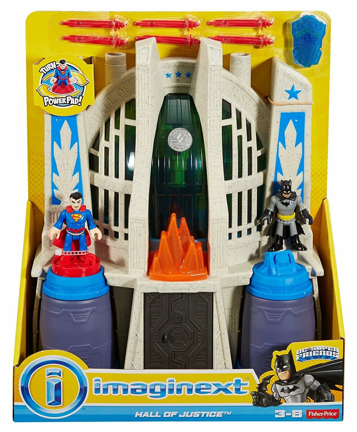 New IMAGINEXT DC BATMAN EXCLUSIVE HALL of JUSTICE LEAGUE Superman Wonder Woman