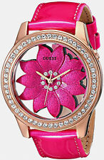 GUESS LADIES ROSEGOLD  CRYSTAL FLORA WATCH, NEW WITH TAGS, IN CASE, U0534L3 NEW