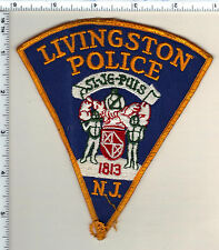 Livingston Police (New Jersey) Uniform Take-Off Shoulder Patch from the 1980's