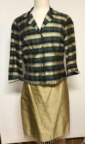 Set Zelda  Silk Metallic Gold Skirt Hanging Beads