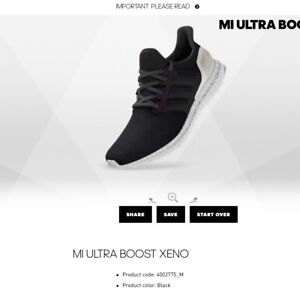 2c582862a ... greece image is loading adidas ultra boost xeno triple black white uk  551c1 72852