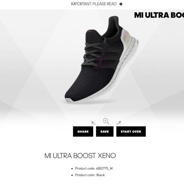21584918b7b91 adidas Ultra Boost XENO Triple Black White UK 9 RARE Ltd for sale ...