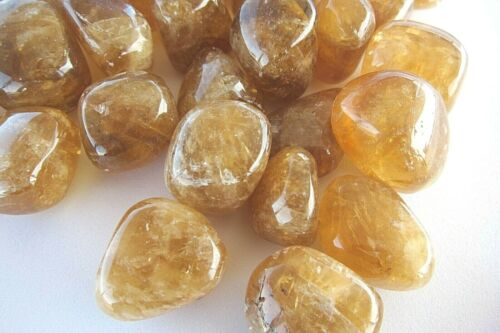 Calcite Citrine One Tumbled Stone 20mm Reiki Healing Crystal by Cisco Traders