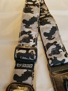 soldier 2002 nylon cotton guitar strap grey camo free usa shipping ebay. Black Bedroom Furniture Sets. Home Design Ideas