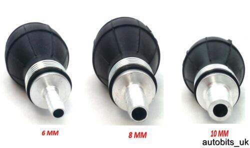 6//8//10 mm Carburant primer blub Pompe à Main Essence Diesel Huile inline caoutchouc noir