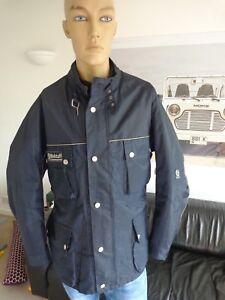 BELSTAFF-Roadmaster-Quilted-Jacket-for-Men-Size-XXL-45-034-Chest-VGC-Navy-Blue
