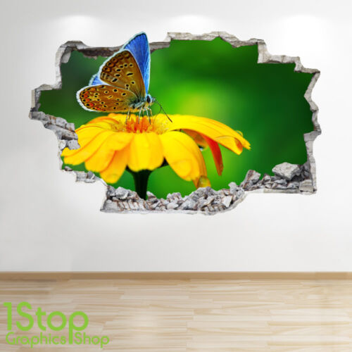 BUTTERFLY WALL STICKER 3D LOOK BEDROOM LOUNGE NATURE WALL DECAL Z609