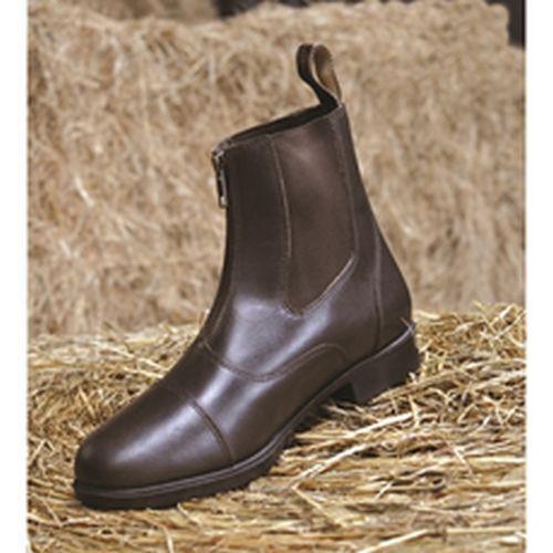 Mark Todd Toddy Cremallera Jodhpur botas Adulto Negro-TOD893787