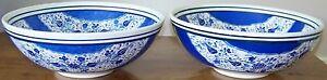 10-034-x4-034-peinte-a-la-Main-amp-Handmade-Blue-amp-White-TURQUIE-IZNIK-Tulip-bol-en-ceramique-Set