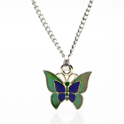 Pendant with 16.5 inch Chain Sea Gems Butterfly Colour Change Mood Necklace