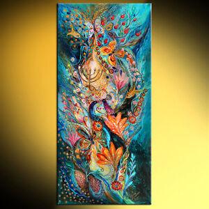 Under-the-light-of-Menorah-contemporary-judaica-art-print-by-Elena-Kotliarker