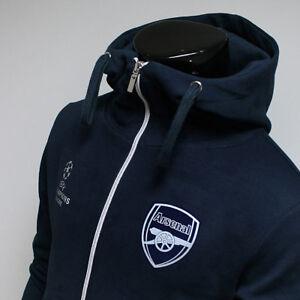 size 40 06b52 5873d Arsenal FC Full Zip Hoodie Soccer Team Jacket Turtleneck ...