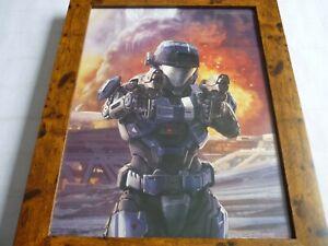 Framed-Original-loot-crate-halo-legendary-poster-a3-double-pistol-kat-b320