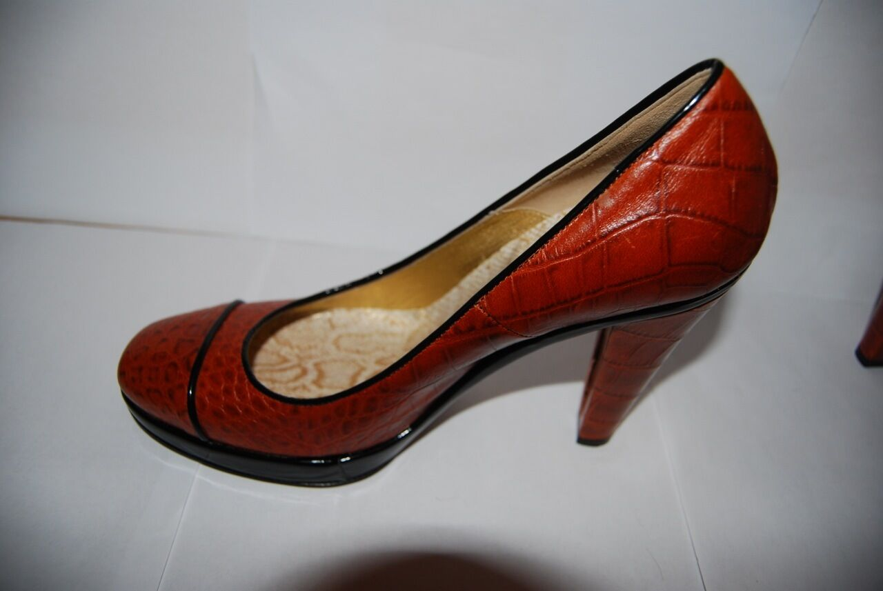 Just Cavalli Brand New Full Leather Pumps Pumps Pumps High Heels Alligator Pattern 3901a3