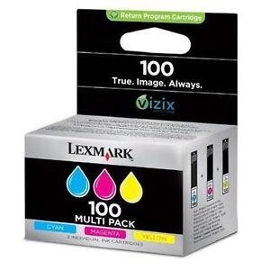 Genuino-Lexmark-Cartucho-de-tinta-3-Colour-MULTIPACK-Lexmark-100-PROGRAMA