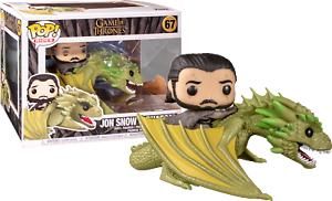 Grand FUNKO POP Game of Thrones 67 Jon Snow et Rhaegal DRAGON Vinyl Figure