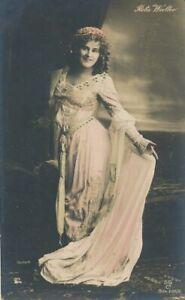 Reta Walter Hand Colored Real Photo Postcard - German Soprano Murdered at Age 21