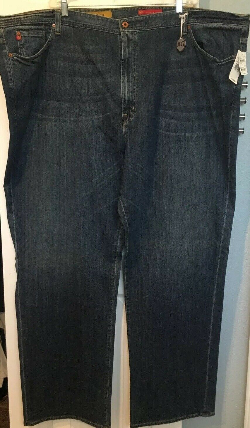 NWT AG Adriano goldshmied bluee Jeans Big Mens 58 X 36 The Brave MSRP
