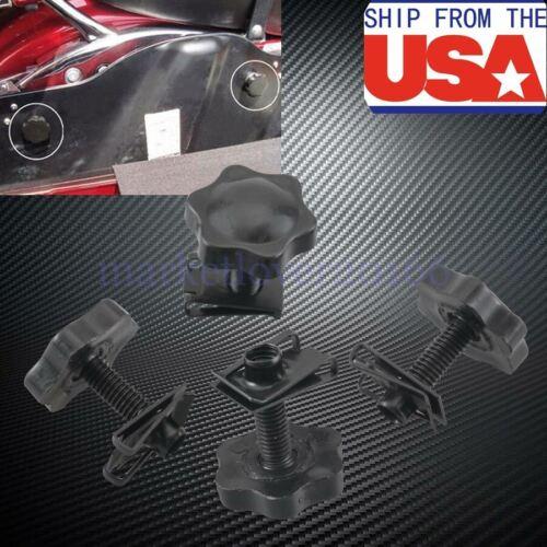 Black Saddlebag Lock Mounting Theft Deterrent Screw Bolt for Harley FLT FLHT US