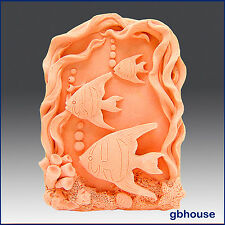 egbhouse, 3 Framed Fish, Detail of high relief sculpture Silicone Soap/clay Mold